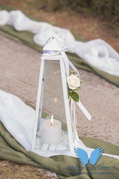 Lantern with white details. Orthodox wedding in Chalkida, Greece. Santorini Wedding, Greece Wedding, Santorini Greece, Mykonos, Orthodox Wedding, Special Day, Perfect Wedding, Lanterns, Wedding Planner