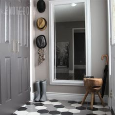 PinkLittleNotebook Blog another house renovation diary: nice entryway & the home has a gorgeous stairway.  This from Canada.