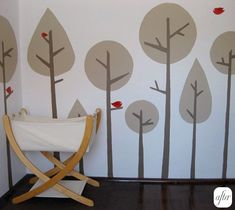 These seem like really easy trees to do. I'm thinking this will help break up the green walls I want to do.