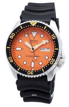 Refurbished Seiko Automatic Japan Made Diver's Men's Watch Seiko Automatic, 200m, Online Watch Store, Casio Watch, Stainless Steel Case, Marker, Watches For Men, Hands, Crystal