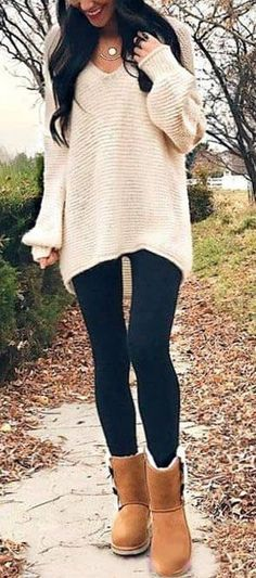 4420d133786c7 40+ Oversized Sweater winter outfit ideas for women