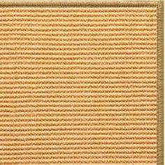 Sustainable Lifestyles Tan Sisal Rug with Serged Border (Color 200)