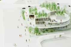 Japan Architecture, Education Architecture, School Architecture, Architecture Design, Urban Rooms, Co Housing, Kindergarten Design, Public Space Design, Landscape Model