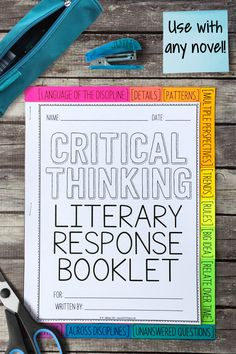 This Depth and Complexity literary response booklet can be used with any novel or short story. It's the perfect alternative to a book report or worksheet. Teaching Critical Thinking, Teaching Social Studies, Teaching Resources, Teaching Ideas, Teaching Materials, Reading Response, No Response, Writer Workshop, Reading Workshop