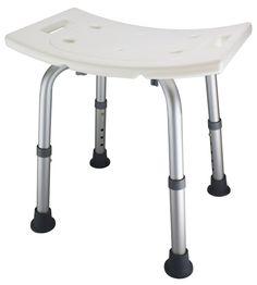ez2care adjustable lightweight shower bench white
