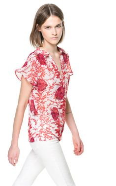 FLORAL PRINT BLOUSE - Tops - Woman | ZARA United States