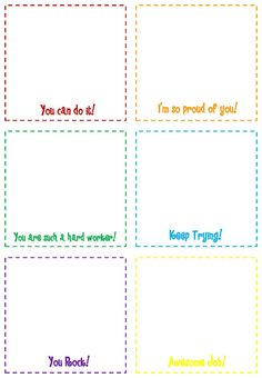 free printable notes for students--I think I have a template to print on actual post it notes