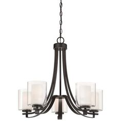 Minka Lavery Parsons Studio 5-Light Smoked Iron Chandelier-4105-172 - The Home Depot