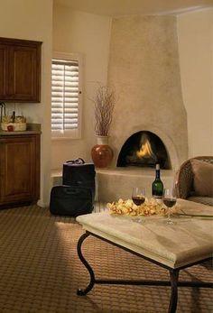honeycomb fireplace-faux finish