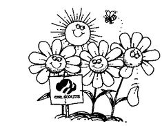 girl scout planting flowers girl scouts in nature girl scout doll - Girl Scout Brownie Coloring Pages