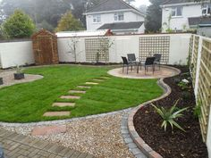 Garden Design Circular Lawns a typical curvilinear design. | the curve is more powerful than