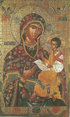 024 Religious Paintings, Religious Art, Religious Pictures, Church Interior, Orthodox Icons, Mother Mary, Renaissance Art, Our Lady, Byzantine