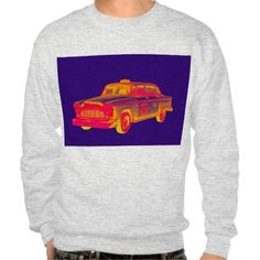 Checker Cab Taxi Pop Art Pull Over Mens Sweatshirts Mens Sweatshirts, Hoodies, Taxi, Pop Art, Phone Cases, Antique, Art Prints, T Shirt, Gifts