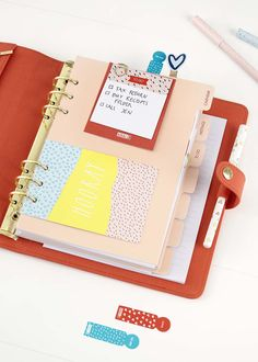 Discover these simple and fun organisation tips for your kikki.K Tangerine Personal Planner. Add to do lists, quotes and more.