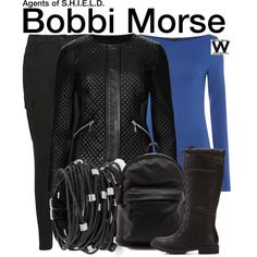 Inspired by Adrianne Palicki as Bobbi Morse on Agents of S.H.I.E.L.D.