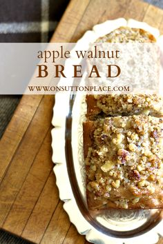 #Apples baked inside and sour cream guarantee wonderful taste and moistness in this easy to make bread. Perfect for #Fall gatherings and holidays!