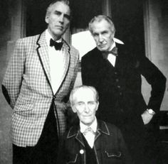 The masters of horror Christopher Lee, Vincent Price & Peter Cushing