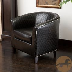 Christopher Knight Home Mia Black Bonded Leather Quilted Club Chair | Overstock.com