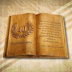 40. születésnapra ajándék fakönyv - Mívesfa
