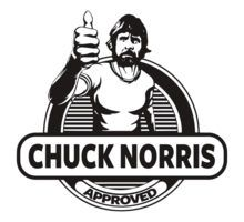 chuck norris approved stamp - photo #8