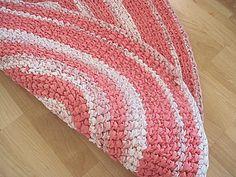 Crocheted Oval Repurposed Rag Rug