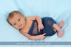 Hand Dyed  Blue Gray Cheese Cloth  Newborn Baby Boy  by EcoStreet, $10.00