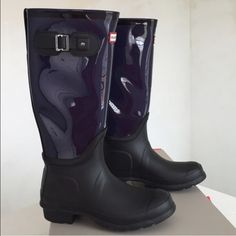 Brand new Hunter original clear rain boots New in box, US size 8 Hunter Boots Shoes Winter & Rain Boots
