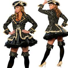 Halloween Classic Pirate Female Cosplay Costume