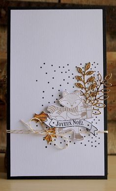 Carte de voeux Plus Homemade Christmas Cards, Handmade Christmas, Christmas Diy, Christmas Projects, Paper Cards, Diy Cards, Card Making Inspiration, Making Ideas, Xmas Cards