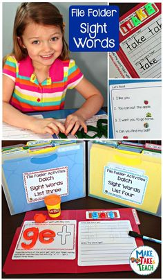 Engaging hands-on activities for learning and practicing sight words!