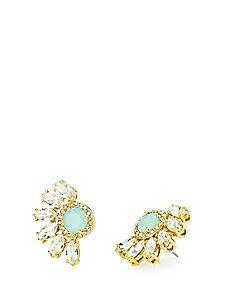 Marquise Cluster Rhinestone Stud Earring