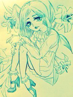 白百合と少女。  アナログ