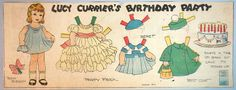 Lucy Currier's Birthday Party Newspaper Paper Doll, Evelyn Dix 1930s | Dolls & Bears, Paper Dolls, Vintage | eBay!