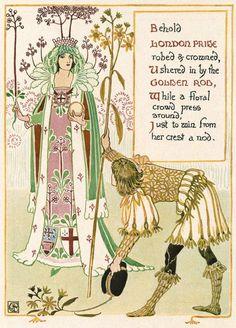 "Walter Crane «A floral fantasy in an old English garden» | ""Картинки и разговоры"""
