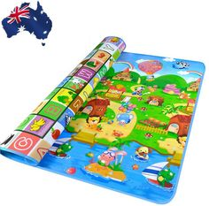 Baby Kid Child Play-mat Picnic Cushion Crawling Mat Playing 2x1.8m OCUSH2002 in Baby   eBay