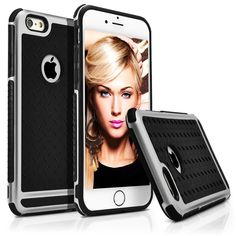 iPhone 6 Case, MagicMobileUltra Thin Slim Rugged Shock Absorbing Raised Bumper Case for Apple iPhone 6 Plate Metal Texture Pattern Design Deluxe Hard Protective Scratch Proof Cover - Silver/Black. Your iPhone 6 is protected by supreme tough case from scores and random bumps. Created from perfect quality polycarbonate that includes trendy metallic feel style. Advanced snap on for secure and continuous use for any event and very easy to assemble. Opennings permit quick access to…