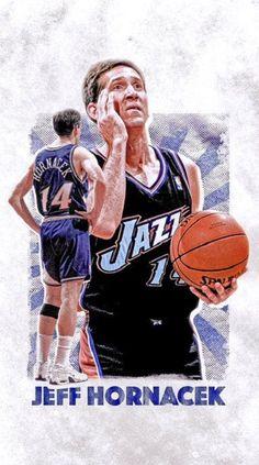 Utah Jazz, Jazz Basketball, Basketball Stuff, Jeff Hornacek, All That Jazz, Jaz Z, Sports Figures, Nba Players, Hypebeast