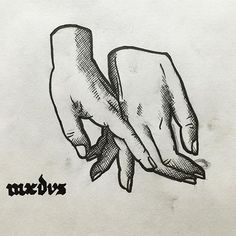 """Cross hatching by MXDVS - """"Hold my hand"""" Maybe soon on @ateliermxdvs"""