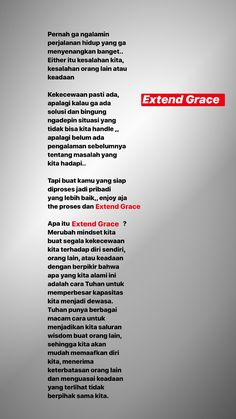 Pada saat kekecewaan terjadi kita perlu jalanin proses dan extend grace .. apa itu Extend grace ? Quotes Rindu, Text Quotes, Words Quotes, Powerful Motivational Quotes, Inspirational Quotes Pictures, Reminder Quotes, Self Reminder, Self Healing Quotes, Note To Self Quotes