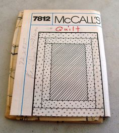 Never  Used Vintage McCalls Pattern 7812 by lovelylovedesigns, $5.99