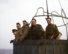 Robert Capa - July, 1943. Five British soldiers on a troop ship from England to North Africa.