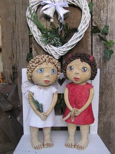 Statues, Clay Art Projects, Biscuit, Collectible Figurines, Ooak Dolls, Art School, Pottery, Crafts, Cement