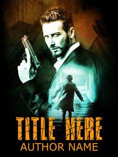 Premade Book Cover - vercodesigns Webseite! Mann Waffe Krimi Thriller Rennen