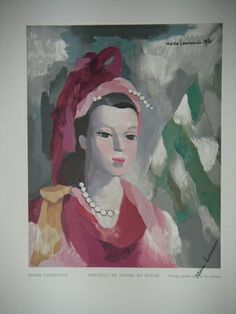 Marie Laurencin, Portrait of a Woman in Red Fabulous holiday gift to brighten your home