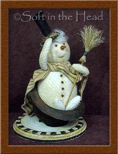 *SNOWMAN ~ Primitive Folk Art Trinkets and Treasures Market Place  I love this - original