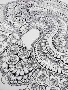 Zendoodle Zentangle line art