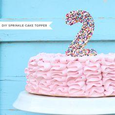 DIY Sprinkle Cake Topper