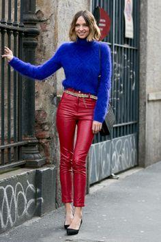 #Streetstyle: c'est la #rentrée #automne #hiver #rouge