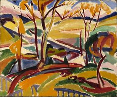 Valley Falls I, 1915, H. Lyman Saÿen, oil on canvas, 25 x 30 in. (63.5 x 76.3 cm.), Smithsonian American Art Museum, Gift of H. Lyman Sayen to his nation, 1968.19.1