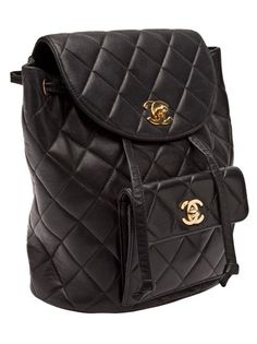 CHANEL VINTAGE - quilted backpack 10